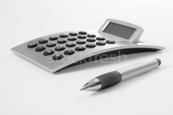 пер калькулятор бизнеса работу карандашом успех Сток-фото © ctacik