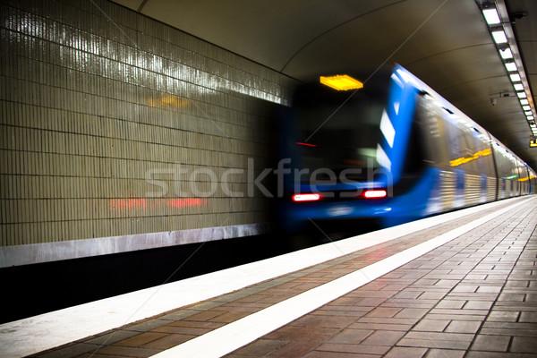 Metrô rápido trem urbano túnel Foto stock © ctacik