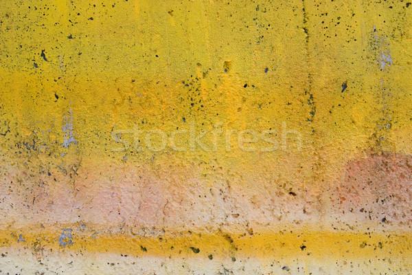 Grunge amarelo pintado parede abstrato velho Foto stock © ctacik