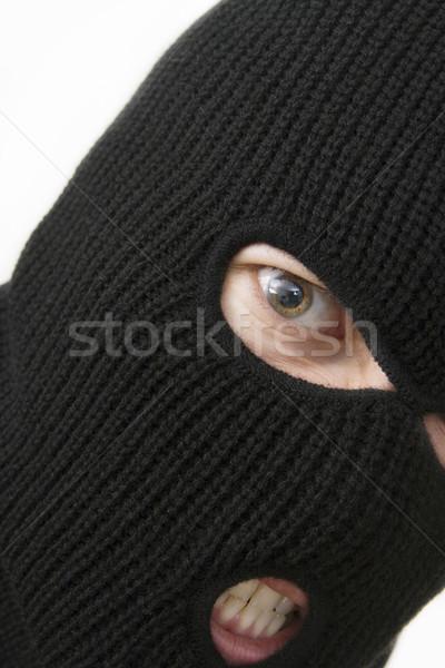 уголовный зла военных маске лице Сток-фото © ctacik