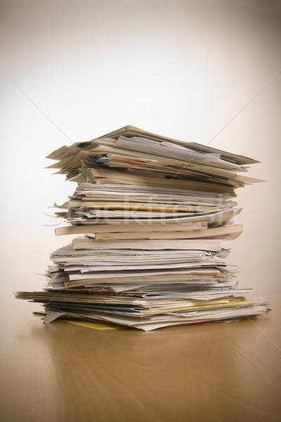 Documentos grande documentos imprimir branco Foto stock © ctacik