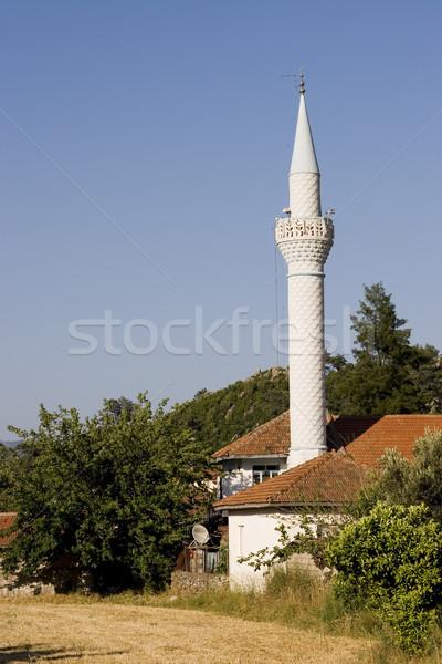 Mesquita turco céu igreja azul Foto stock © ctacik