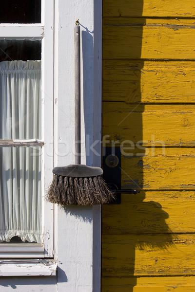 метлой окна старые дома текстуры Сток-фото © ctacik