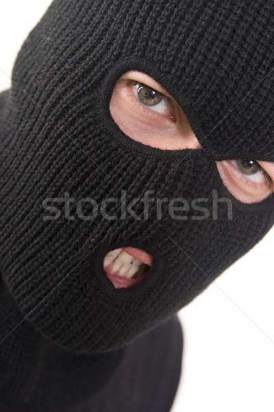 уголовный зла военных маске человека Сток-фото © ctacik