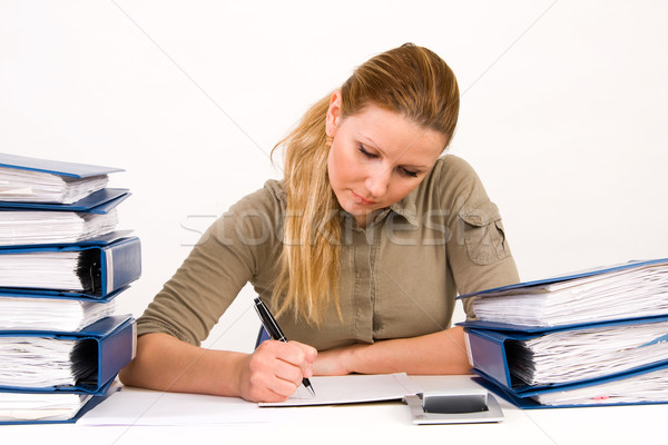 business woman working with documents Stock photo © ctacik