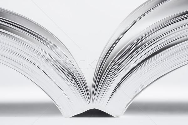 открытой книгой белый бумаги книга школы фон Сток-фото © ctacik