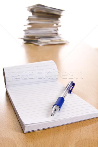 карандашом ноутбук таблице печать документы прессы Сток-фото © ctacik