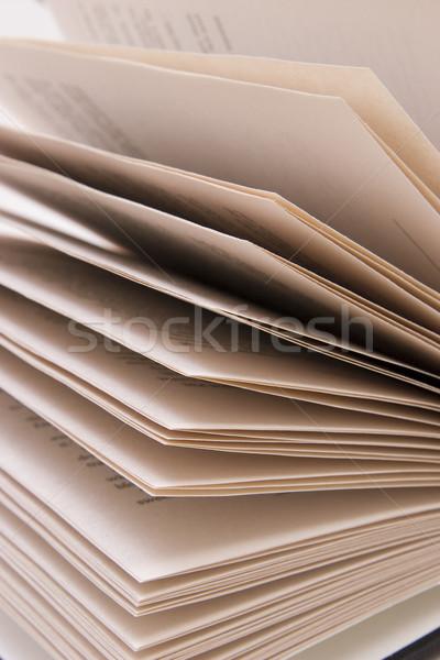 книга аннотация открытой книгой фон читать Сток-фото © ctacik