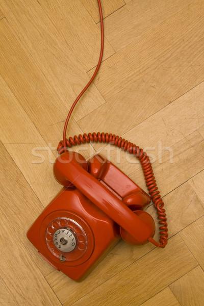 красный телефон старые полу телефон Сток-фото © ctacik