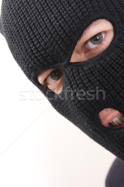 Criminelle mal militaire masque homme Photo stock © ctacik
