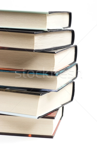 Livros torre branco livro ciência leitura Foto stock © ctacik