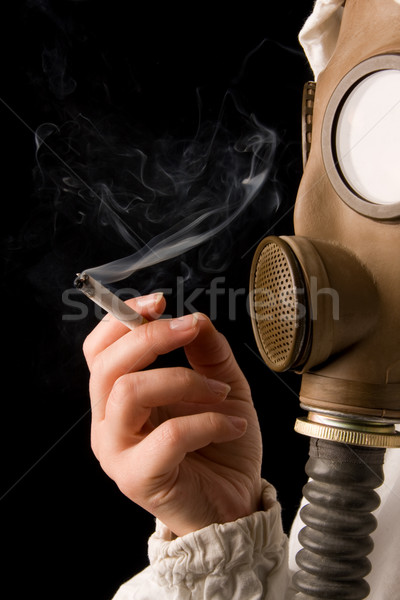 Person in gas mask Stock photo © ctacik