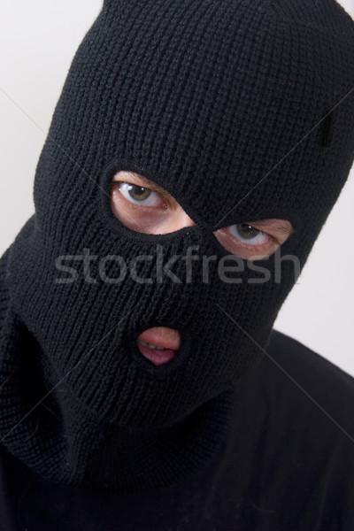 Ceza kötü askeri maske adam Stok fotoğraf © ctacik