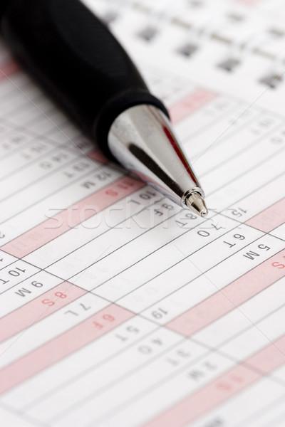 Caneta spiralis bloco de notas calendário negócio caderno Foto stock © ctacik