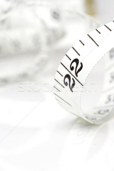 Spirale nastro di misura bianco nastro misura dieta Foto d'archivio © ctacik