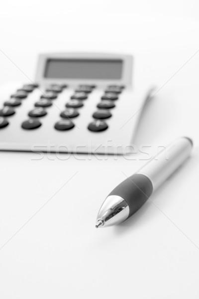 Caneta calculadora negócio trabalhar lápis sucesso Foto stock © ctacik