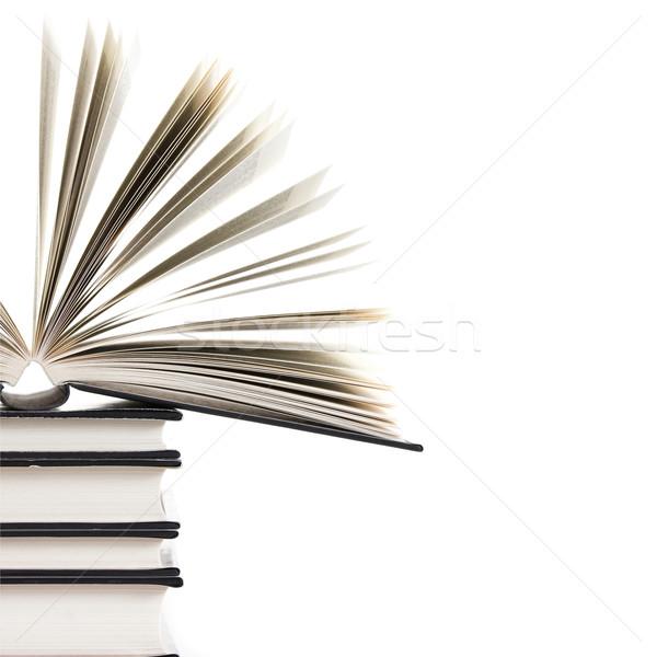 Otwarta księga książek jeden książki otwarte Zdjęcia stock © ctacik