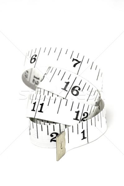 Spiralis fita métrica branco fita medir dieta Foto stock © ctacik