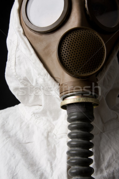Persona maschera antigas buio tecnologia guerra maschera Foto d'archivio © ctacik