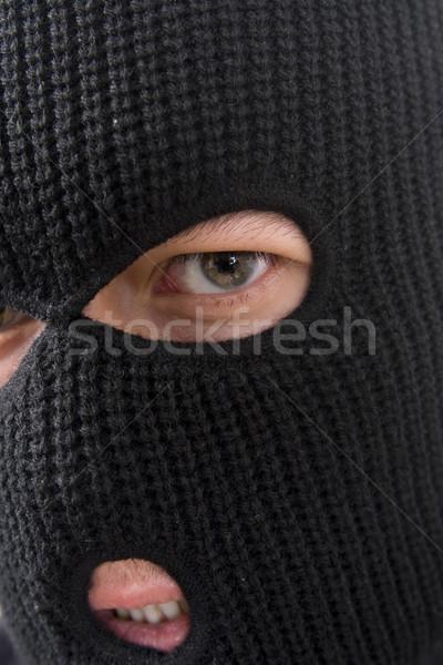 Criminal lol militar máscara homem Foto stock © ctacik