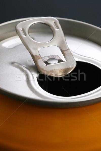 Alumínio beber lata topo ver Foto stock © ctacik