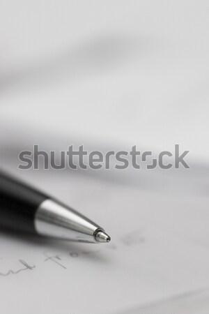 Kalem belgeler kitap çalışmak defter mektup Stok fotoğraf © ctacik
