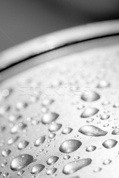Gocce d'acqua argento superficie metallica acqua texture metal Foto d'archivio © ctacik