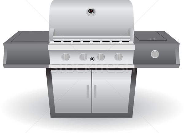 Acier inoxydable barbecue bbq grill brillant métal Photo stock © cteconsulting