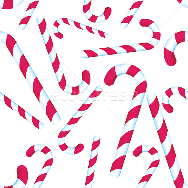 Candy Cane Repeating Pattern Stock photo © cteconsulting