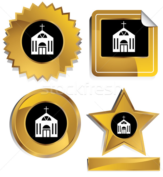Church Icon Set Stock photo © cteconsulting