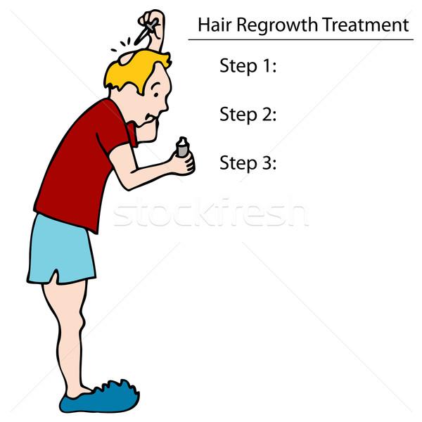 Applying Hair Tonic Stock photo © cteconsulting
