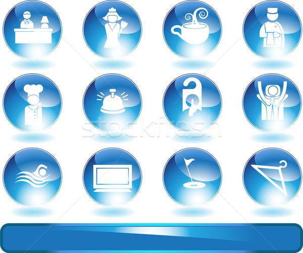 Hotel Icons Stock photo © cteconsulting