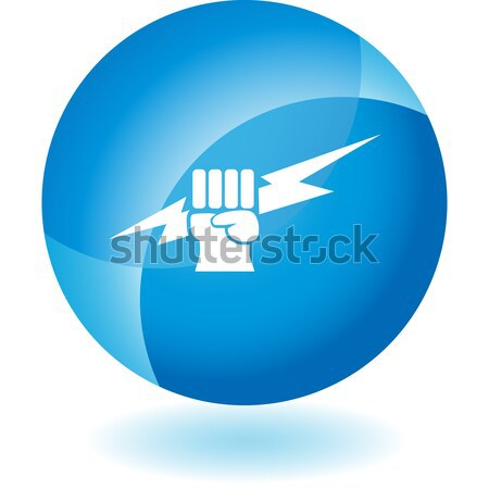 Lightning Fist Crystal Icon Stock photo © cteconsulting