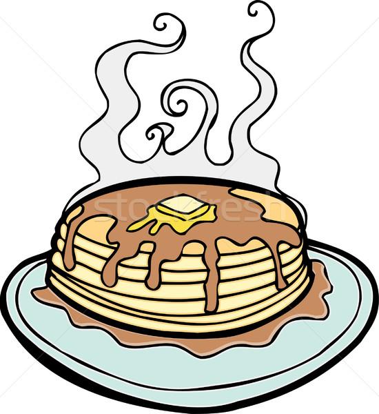 Pannenkoeken boter siroop voedsel ontwerp Stockfoto © cteconsulting