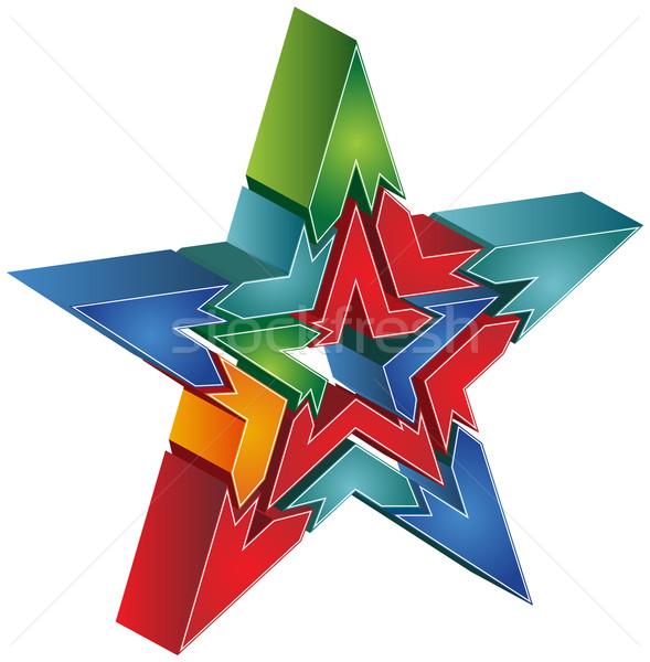 Star grafik 3D görüntü ok diyagram Stok fotoğraf © cteconsulting