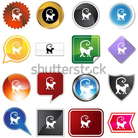 Múltiplo botões primeiro lugar conjunto 16 ícone Foto stock © cteconsulting