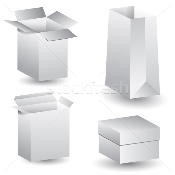 3D Boxes Stock photo © cteconsulting