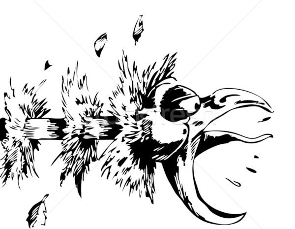 Choking Chicken Stock photo © cteconsulting