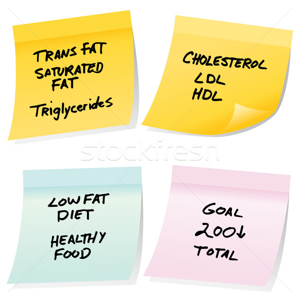 Cholesterol Sticky Notes Stock photo © cteconsulting