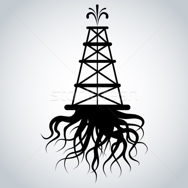 Fracking Rig With Roots Stock photo © cteconsulting
