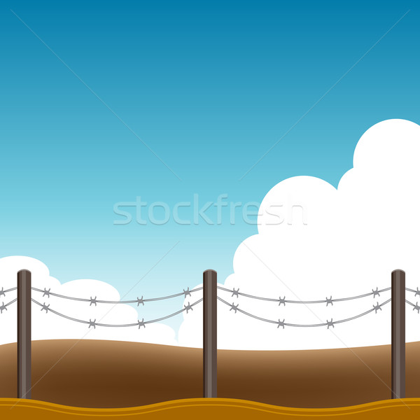 Barbed Wire Fence Background Stock photo © cteconsulting