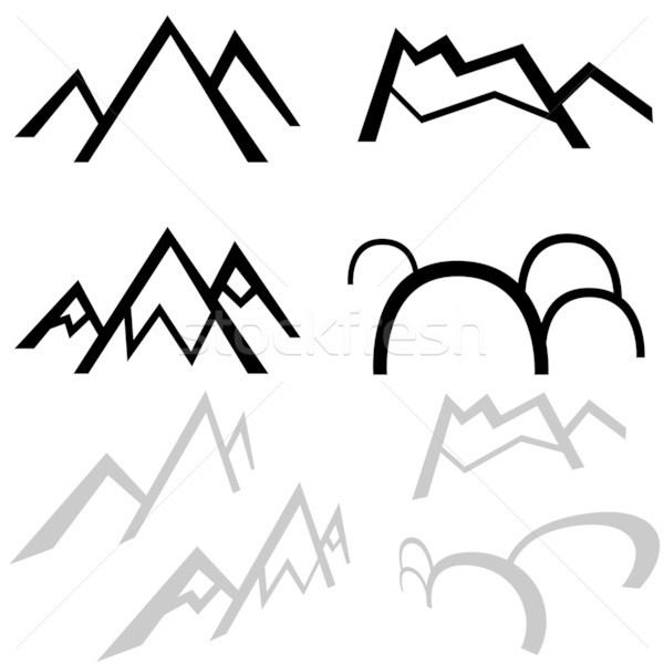 Stock photo: Simple Mountains