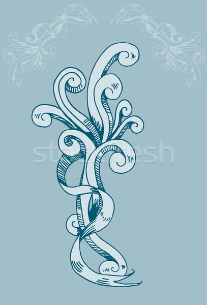 Królewski węża wąż stylu Zdjęcia stock © cteconsulting