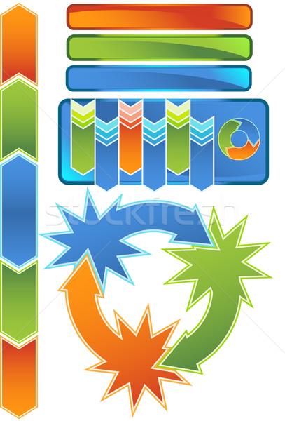 Chevron Diagram Icon Set Stock photo © cteconsulting