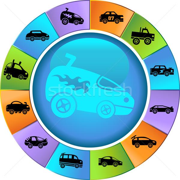 Racecars Stock photo © cteconsulting