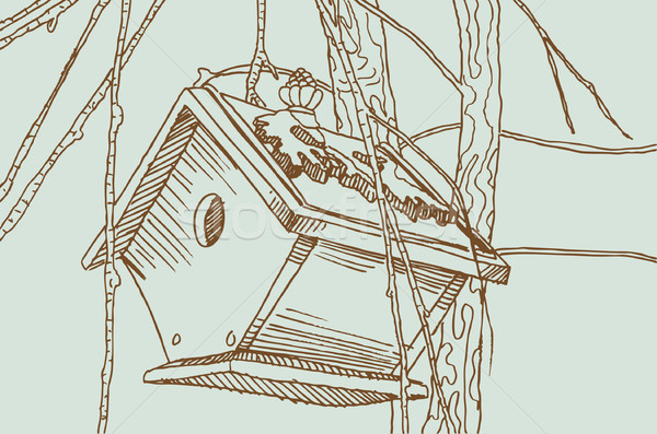 Birdcage Sketch - Outdoors Stock photo © cteconsulting