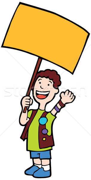Child Holding Sign Stock photo © cteconsulting