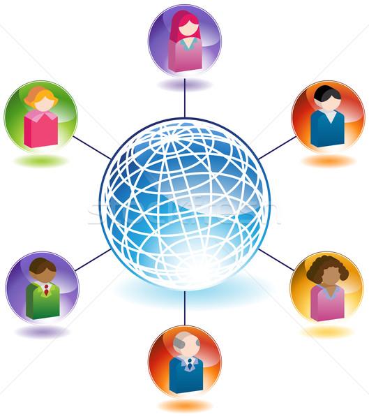 Global Communication Between People Stock photo © cteconsulting