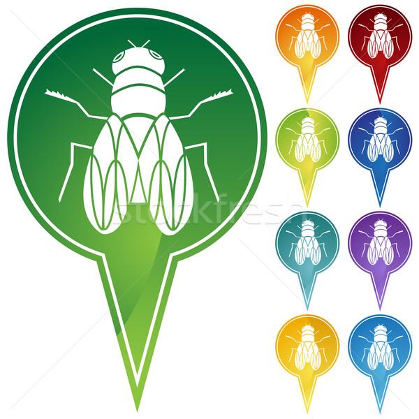 Volare immagine casa bug ala bug Foto d'archivio © cteconsulting