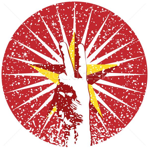 Pace segno rosso logo immagine Foto d'archivio © cteconsulting